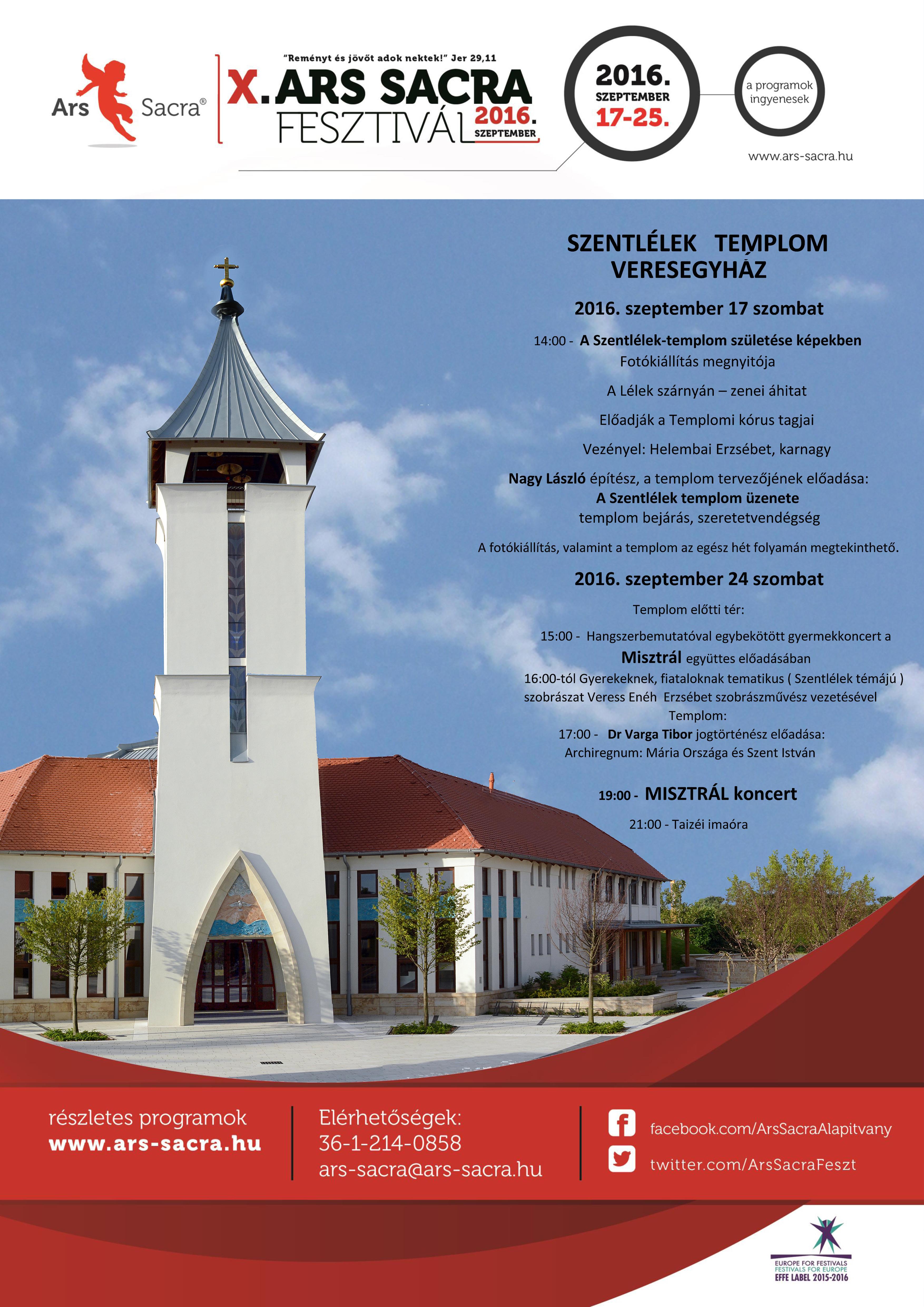 X. Ars Sacra Fesztivál - plakát