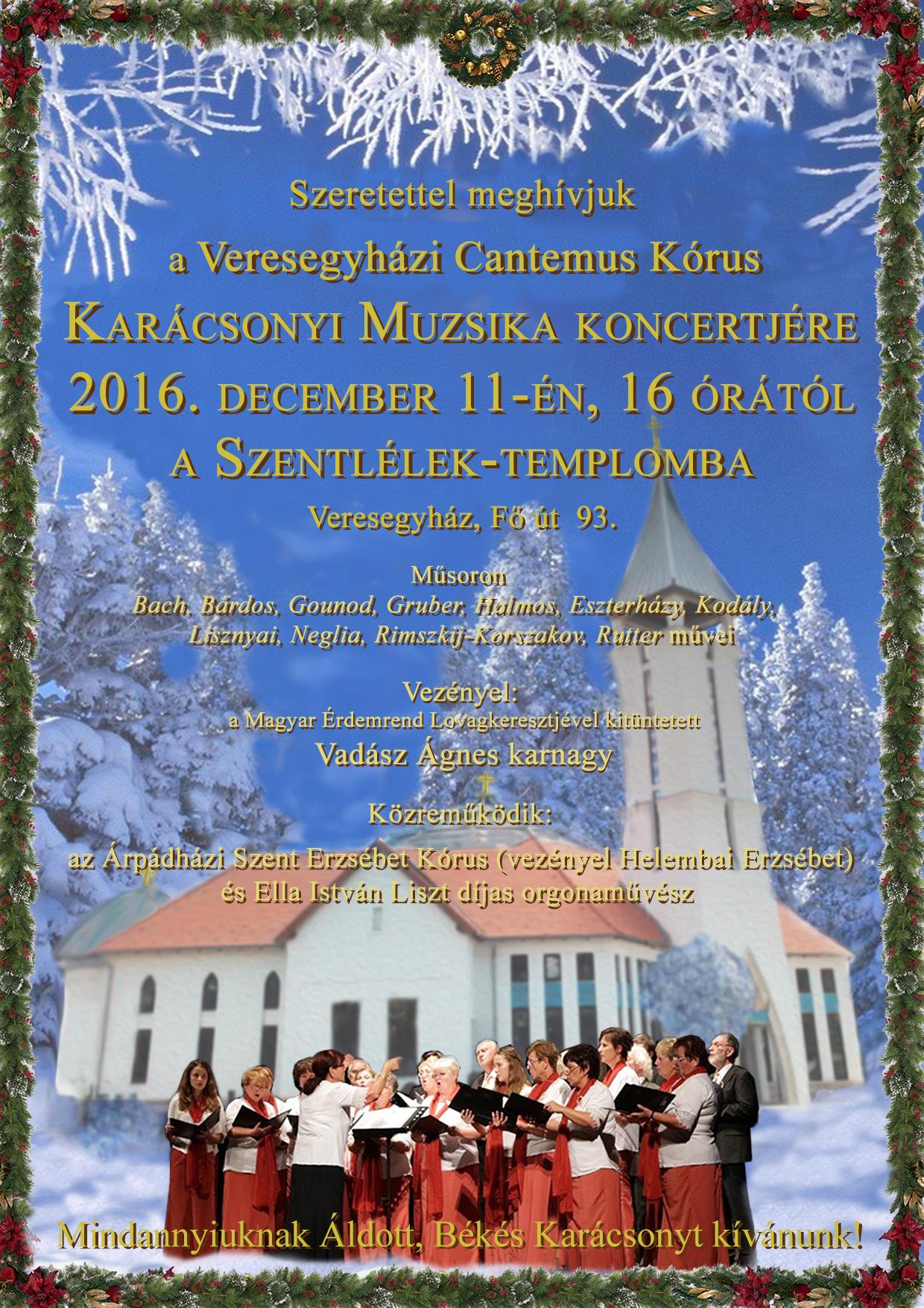 Karácsonyi Muzsika - Cantemus kórus koncert @ Szentlélek-templom (templomtér)