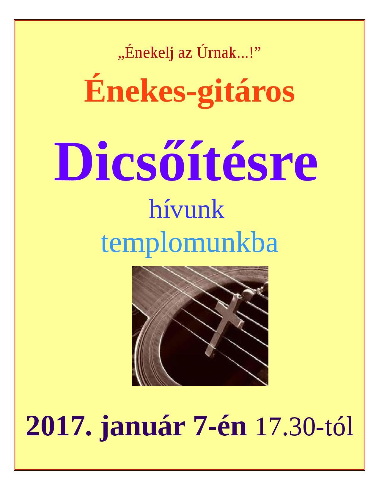 Énekes-gitáros dicsőítés @ Szentlélek-templom