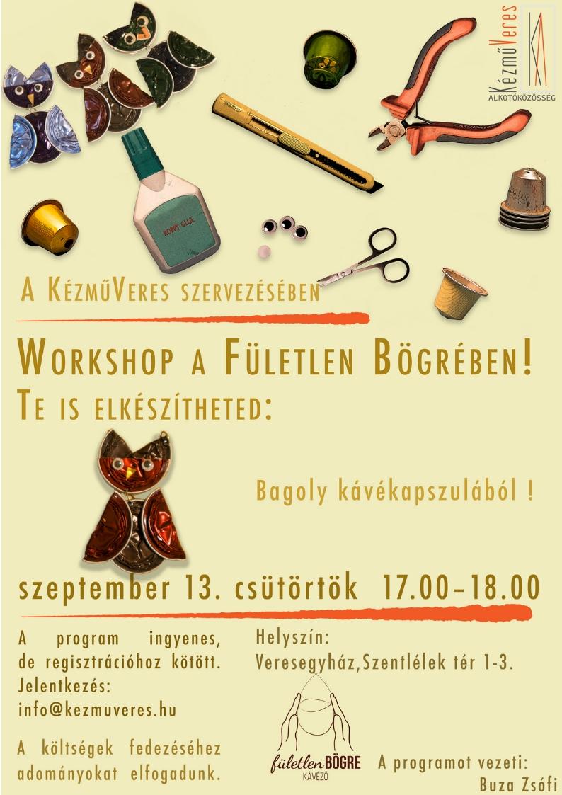 KézműVeres - Workshop a Fületlen Bögrében
